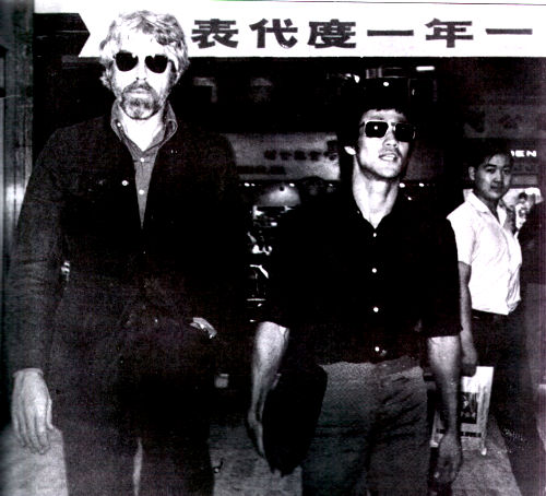 Bruce Lee and James Coburn